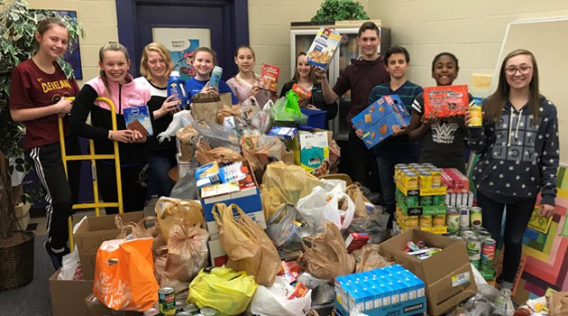 Junior High CACY Food Drive