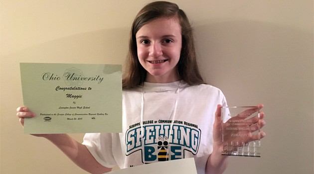 Junior High Student Places 3rd at Regional Spelling Bee