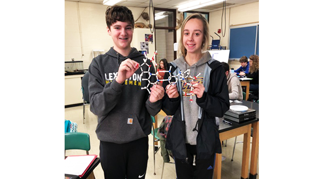 High School Biology Students Make DNA Models