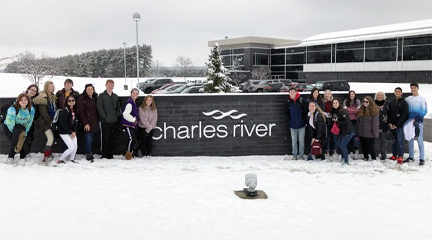 Students Visit Charles River Laboratories