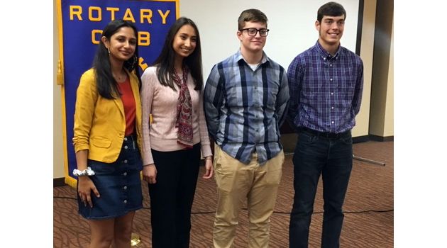 Lexington Seniors Honored by Rotary and Kiwanis Clubs