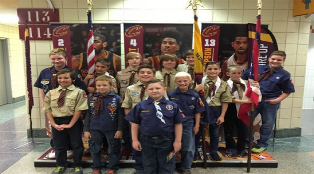 Pack 152 at the Cavs Game
