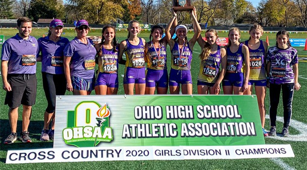 Girls Cross Country Team State Champs!