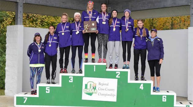 Girls Cross Country Team Regional Champions